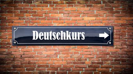 Schild 404 - Deutschkurs
