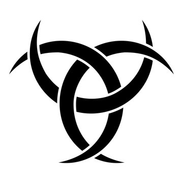 Odin horn paganism symbol icon black color vector illustration flat style image