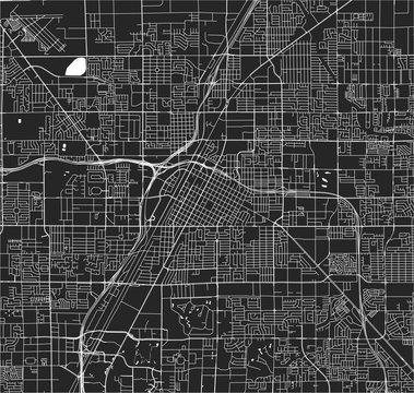 map of the city of Las Vegas, Nevada, USA