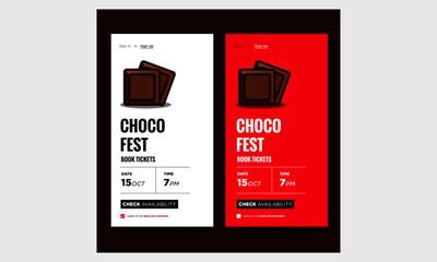 Chocolate Fest Event App Design for Smart Phones