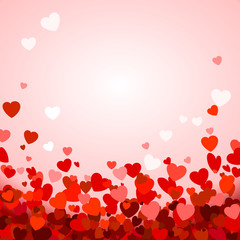 Valentine's day background with hearts. Romantic decoration elements. Vector illustration