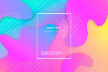 Banner cover minimalistic vector template design futuristic geometric modern fluid background. Eps10.