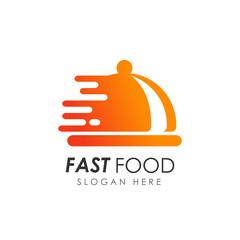fast food logo design. food delivery logo