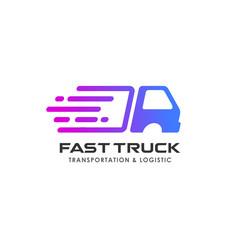 delivery services logo design. courier logo design template