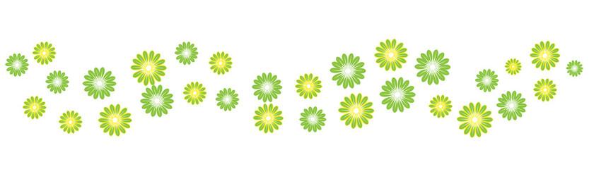 Blumen Hintergrund Banner mit grünen Blüten