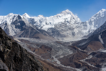 Makalu mountain peak, fifth highest mountain peak in the world, Himalayas mountain, Nepal