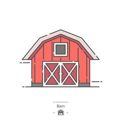 Barn - Line color icon