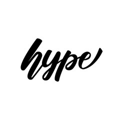 "Lettering banner design ""Hype"". vector illustration."