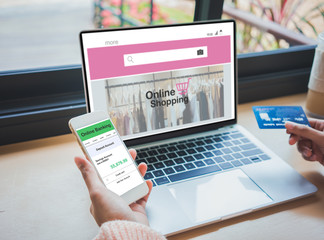 Shopping online concept.