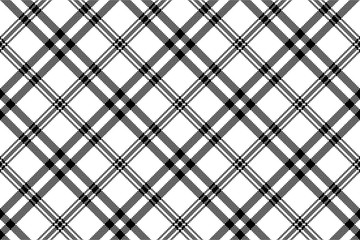 Simple black white check plaid seamless pattern