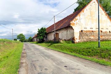 Polish village in Sudety Mountains