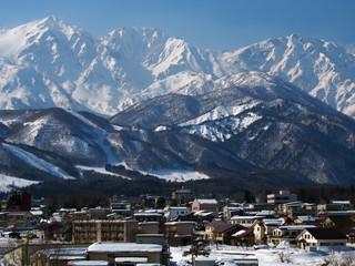 白馬村(日本の山岳風景)