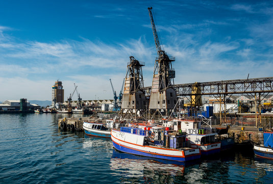 South Africa, Cape Town, fishing boats in the Victoria & Alfred Waterfront