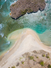 Indonesia, West Sumbawa, Aerial view of Rantung beach