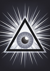 The symbol of the all-seeing eye of God. Modern creative design. Vector illustration.