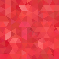 Geometric pattern, triangles vector background in red and oeange tones. Illustration pattern