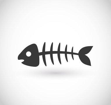 Fishbone vector icon