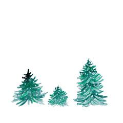 Abstract watercolor christmas tree