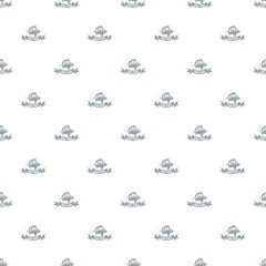 Sea fish pattern vector seamless repeat for any web design