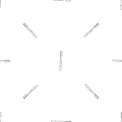 Medium toothbrush icon. Outline illustration of medium toothbrush vector icon for web design isolated on white background