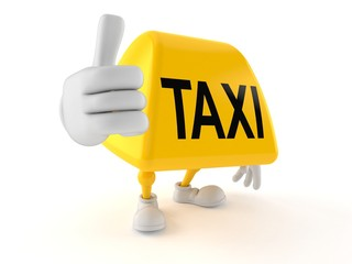 Taxi character with thumbs up