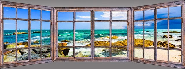 Ocean view window paradise Fototapete