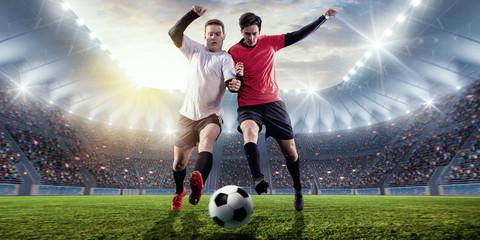 Zweikampf im Fußballstadion