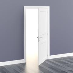 door white open light 3D