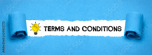 Terms and conditions\