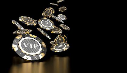 vip golden casino chips