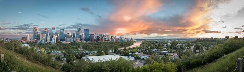 Calgary at sunset