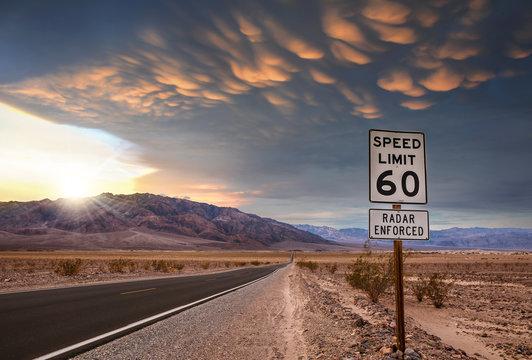 magnifique ciel dans le désert