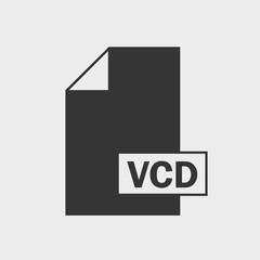 Value Change Dump (VCD) file format Icon on gray background