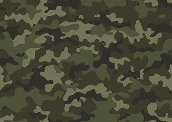 Print Texture military camouflage seamless pattern. Abstract army and hunting masking ornament repeat
