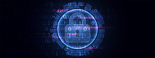 Secure digital space. Virtual confidential, programming protection.
