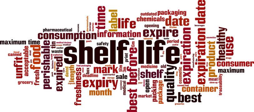 Shelf life word cloud