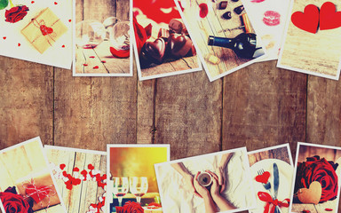 Collage of love and romance. Selective focus.