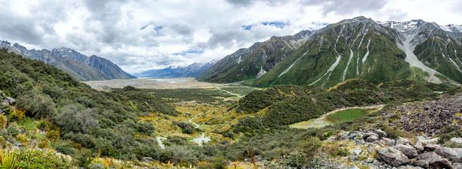 Tasman Glacier Track at Aoraki, Mount Cook, New Zealand, South Island, NZ