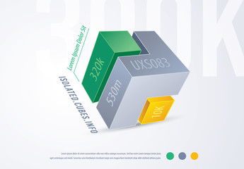 3D Cube Infographic Layout