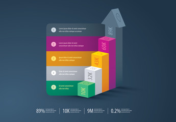 Business Growth Conceptual 3D Infographic Layout
