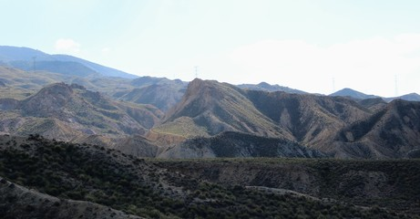 Landscape of rocky mountains