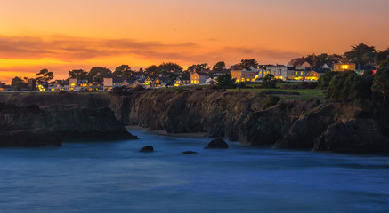 Photo Blinds Coast mendocino during sunset