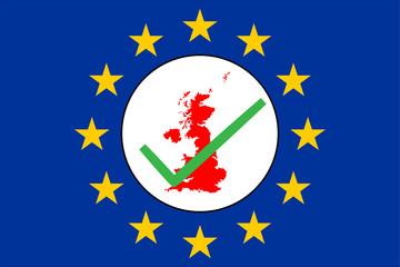 Brexit Grossbritannienkarte mit Checkbox