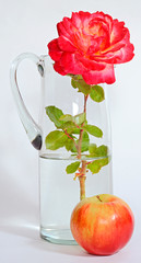 rose Apple decanter water