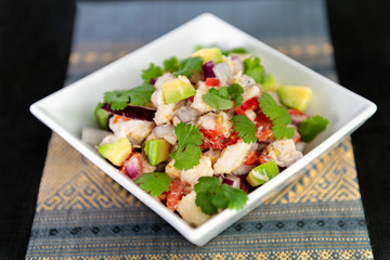 Traditional ceviche seafood