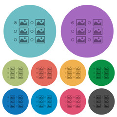 Single image selection with radio buttons color darker flat icons