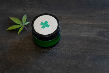 Jar of topical medicinal cannabis