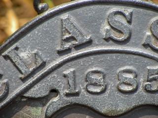 cast iron bench closeup