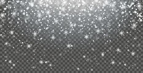 Schnee fallend Hintergrund transparent
