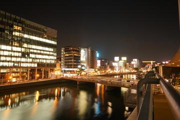 福岡市 天神中洲エリア 夜景風景